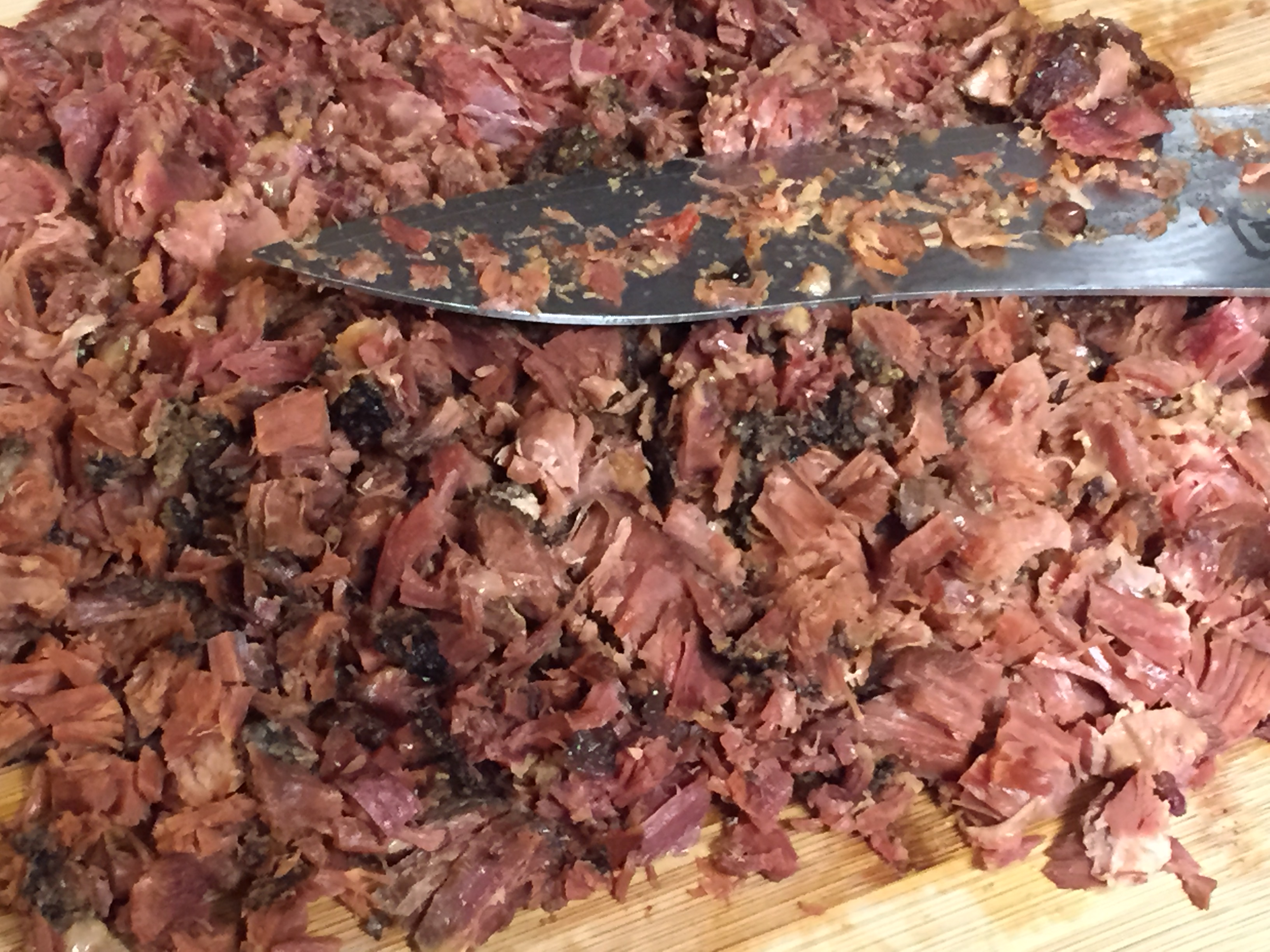 diced ham ready for soup