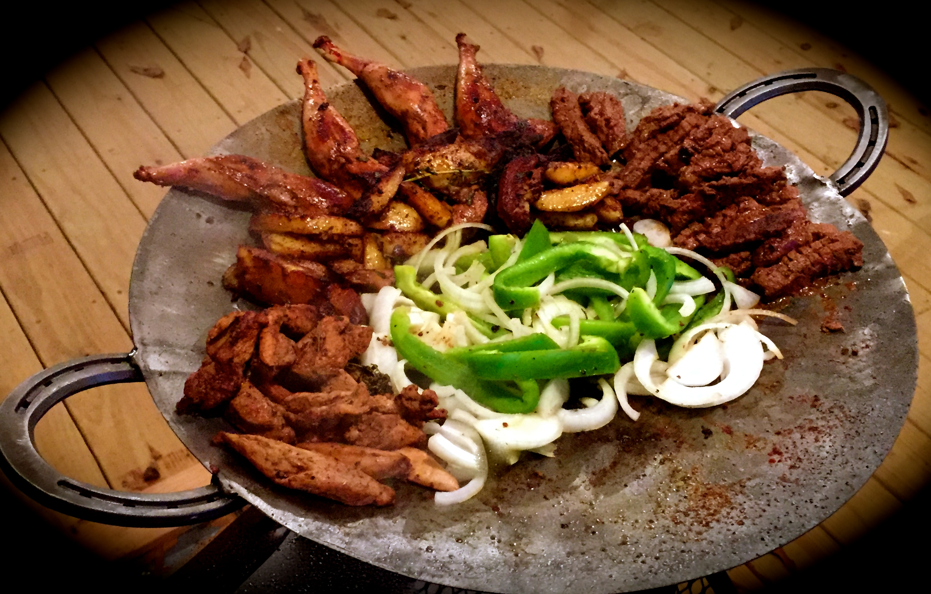 venison and pheasant fajitas