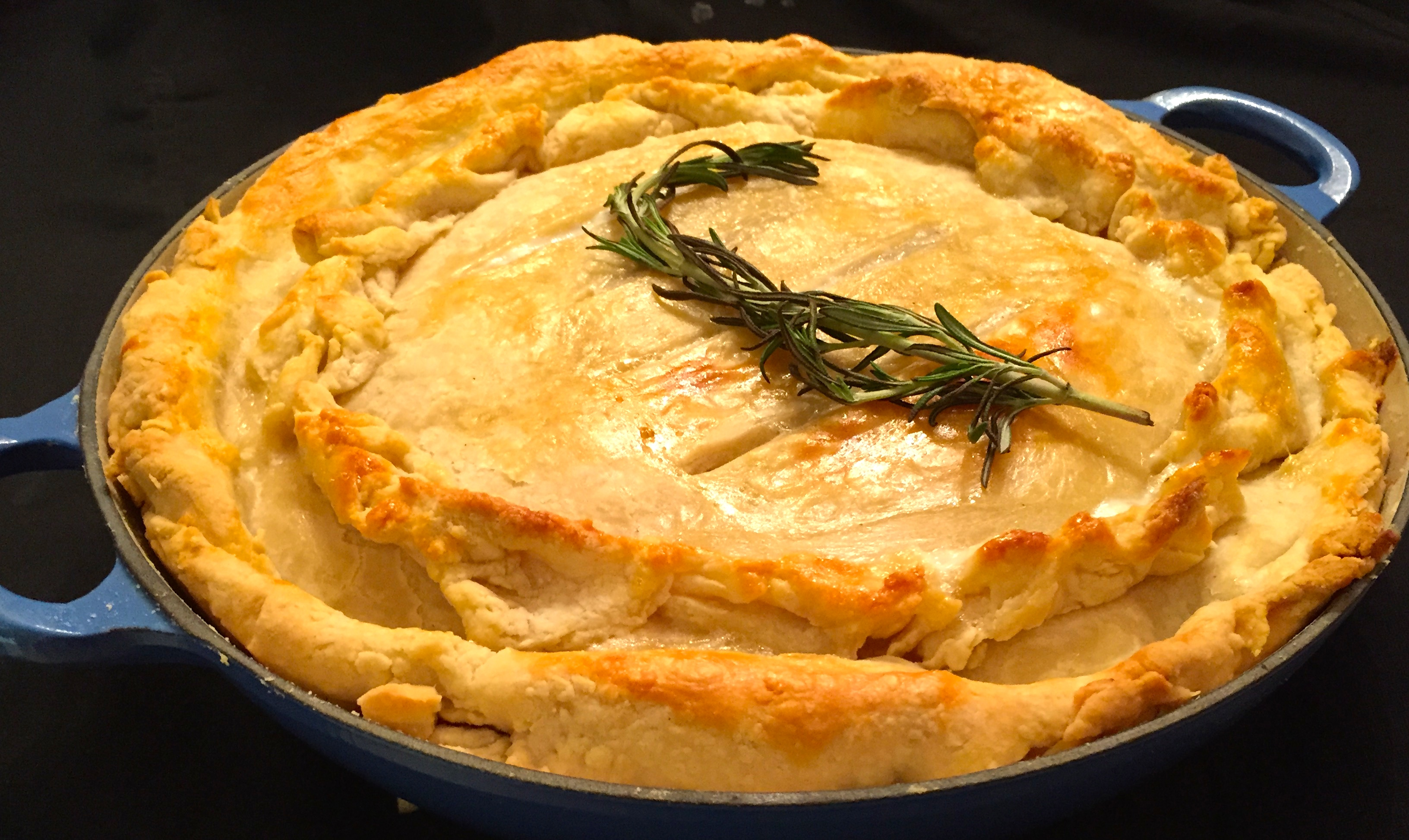 chicken and roasted potato pie