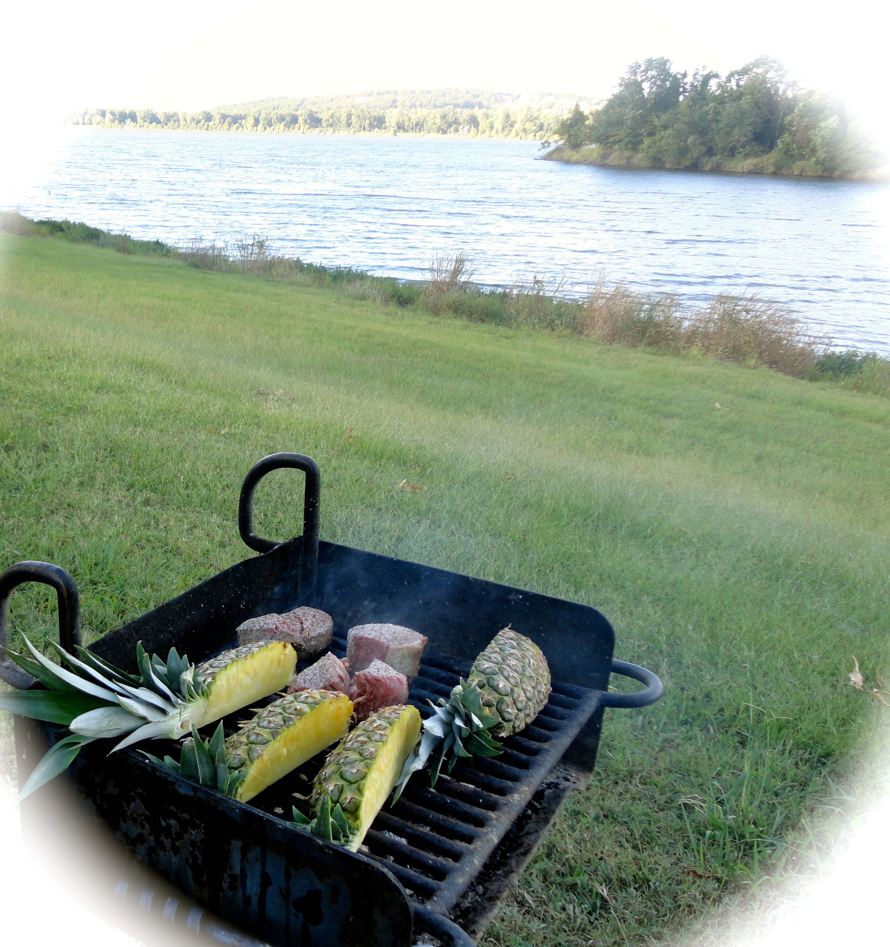 camp grill and river