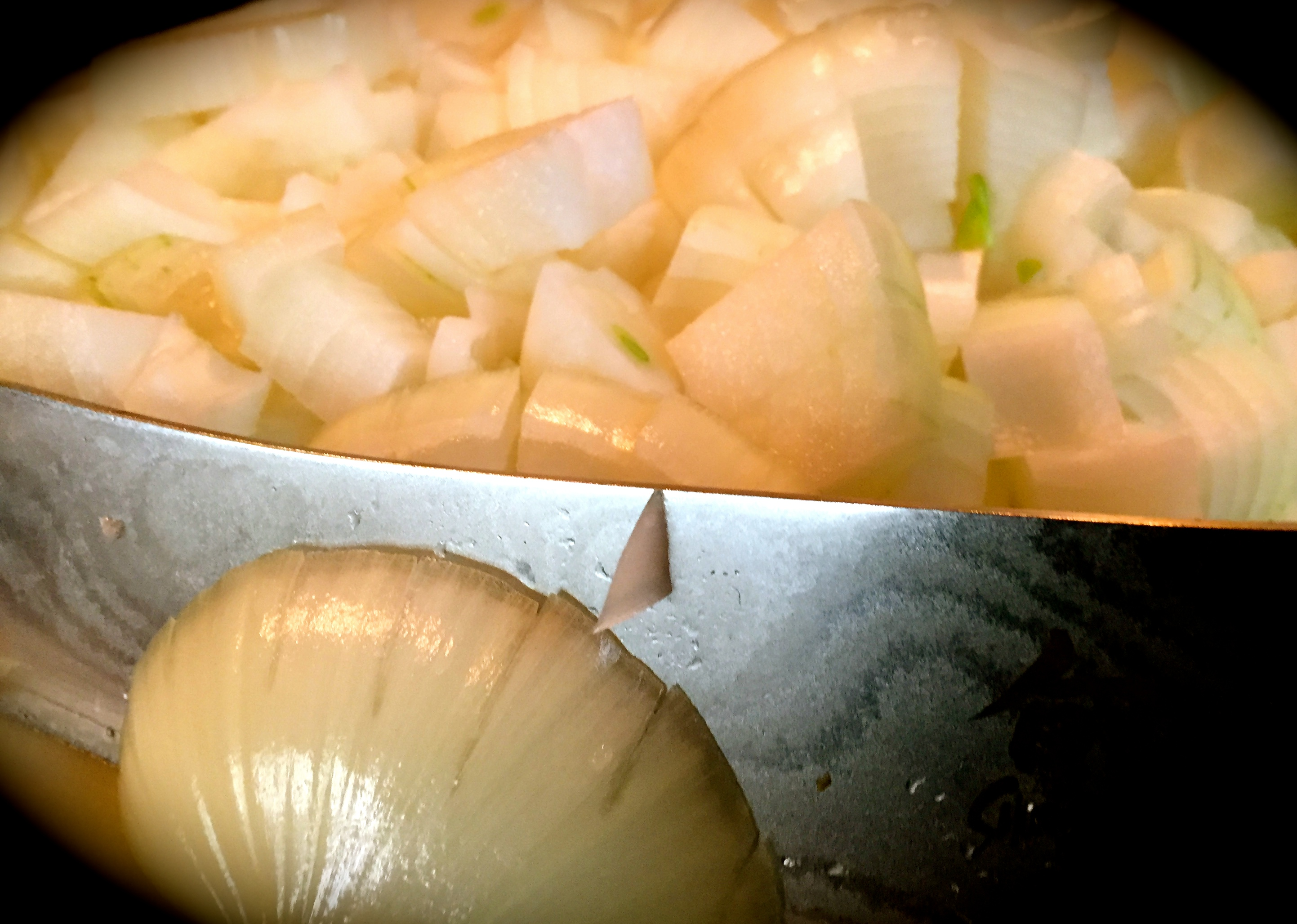 gabure chopped onions