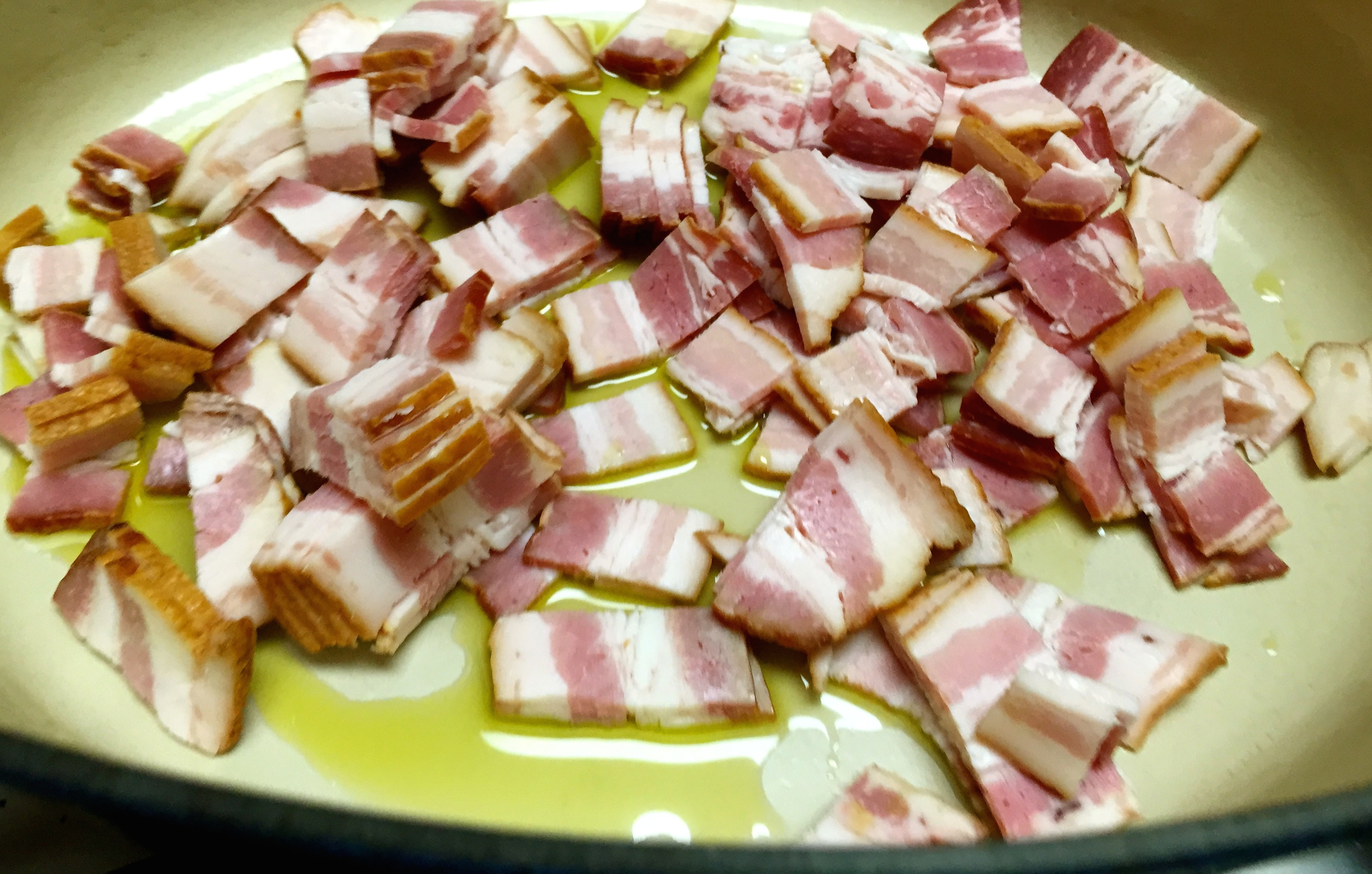 garbure bacon saute