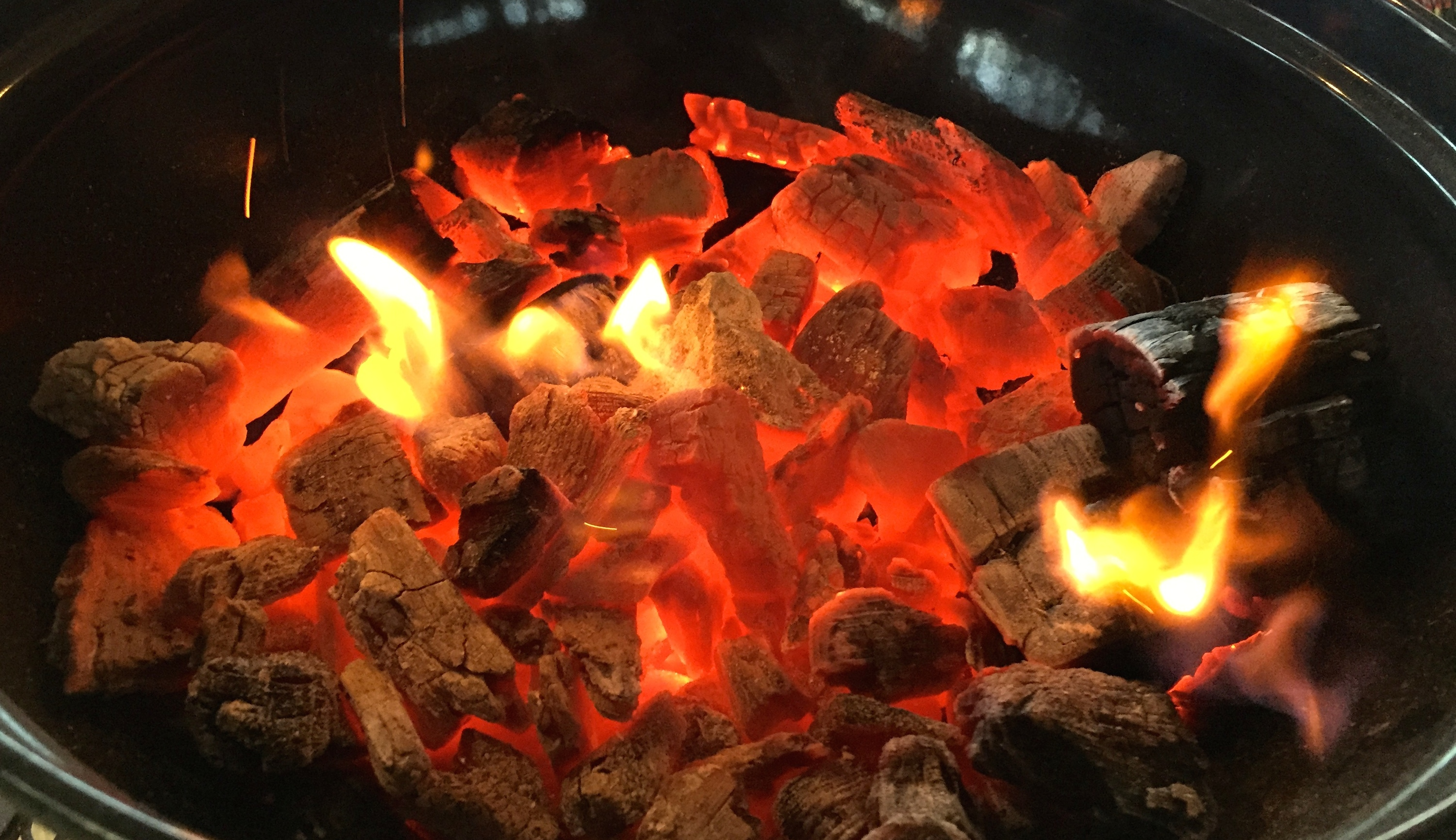 coals ready to cook