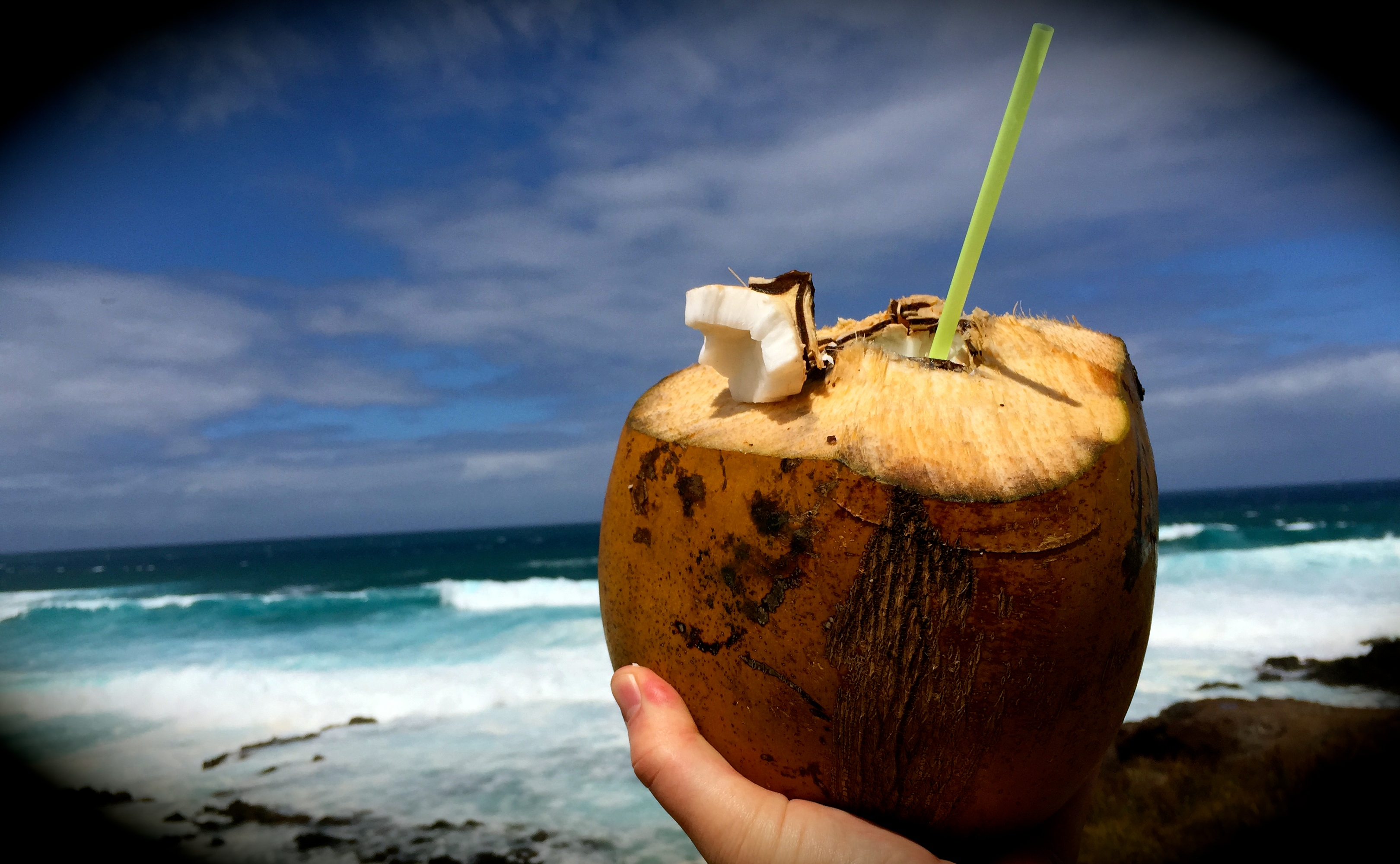 Nothing like a coconut with a view