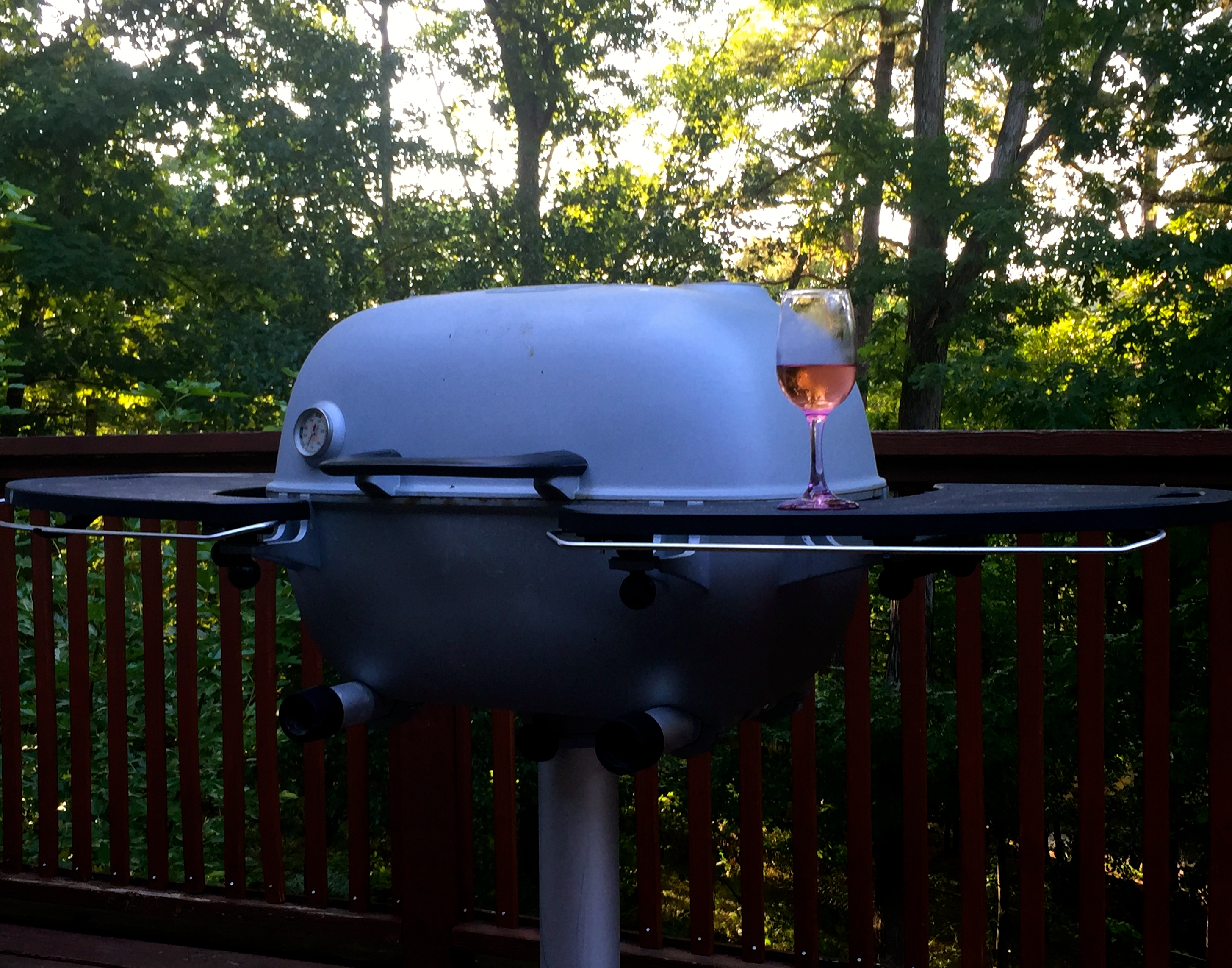 grill with wine